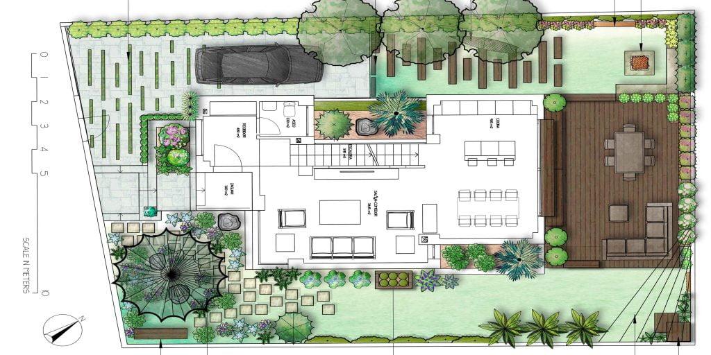 C mo trabajamos la paisajista estudio de paisajismo y for Planos de jardines