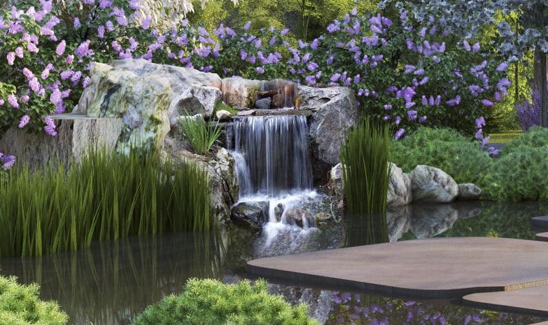 paisajismo elemento agua